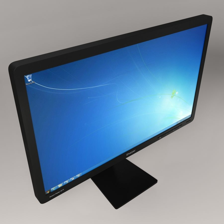 Generic PC Monitor royalty-free 3d model - Preview no. 2