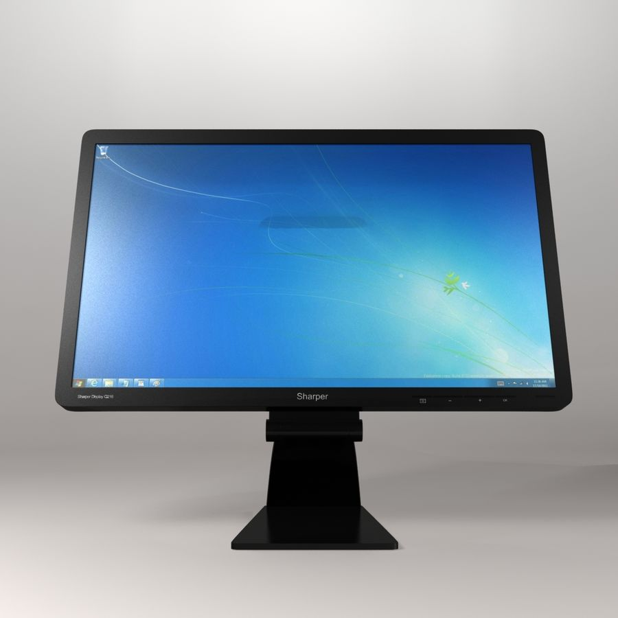 Generic PC Monitor royalty-free 3d model - Preview no. 3