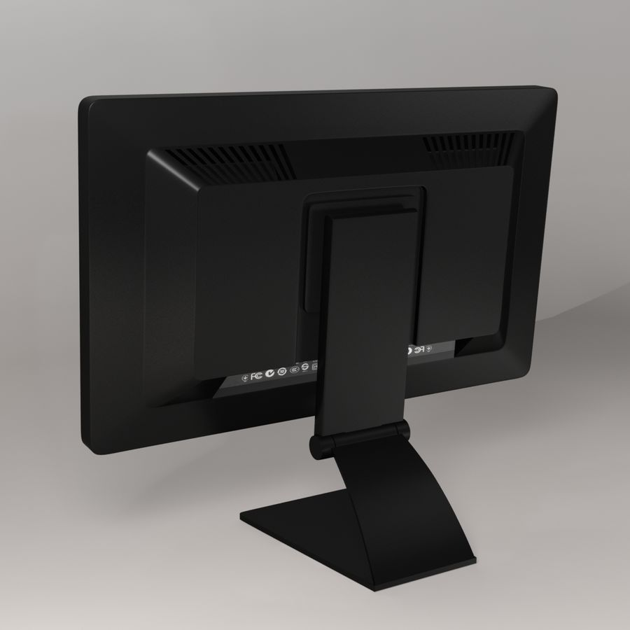Generischer PC-Monitor royalty-free 3d model - Preview no. 4
