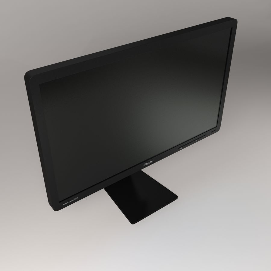 Generic PC Monitor royalty-free 3d model - Preview no. 5