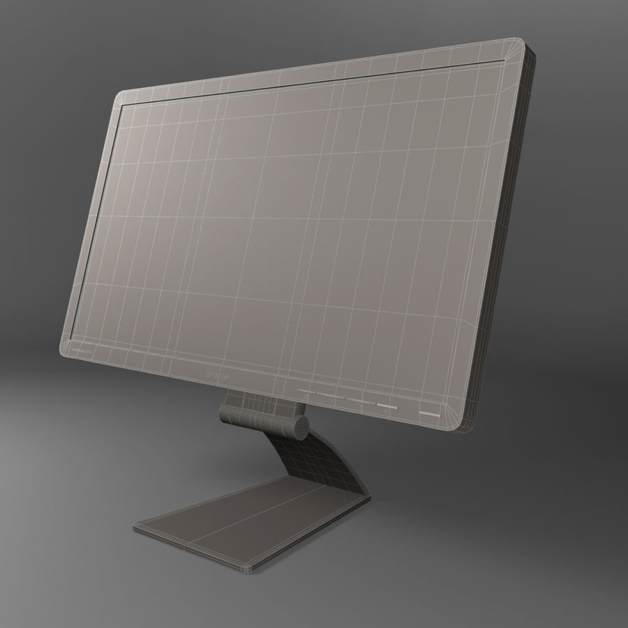 Generic PC Monitor royalty-free 3d model - Preview no. 7