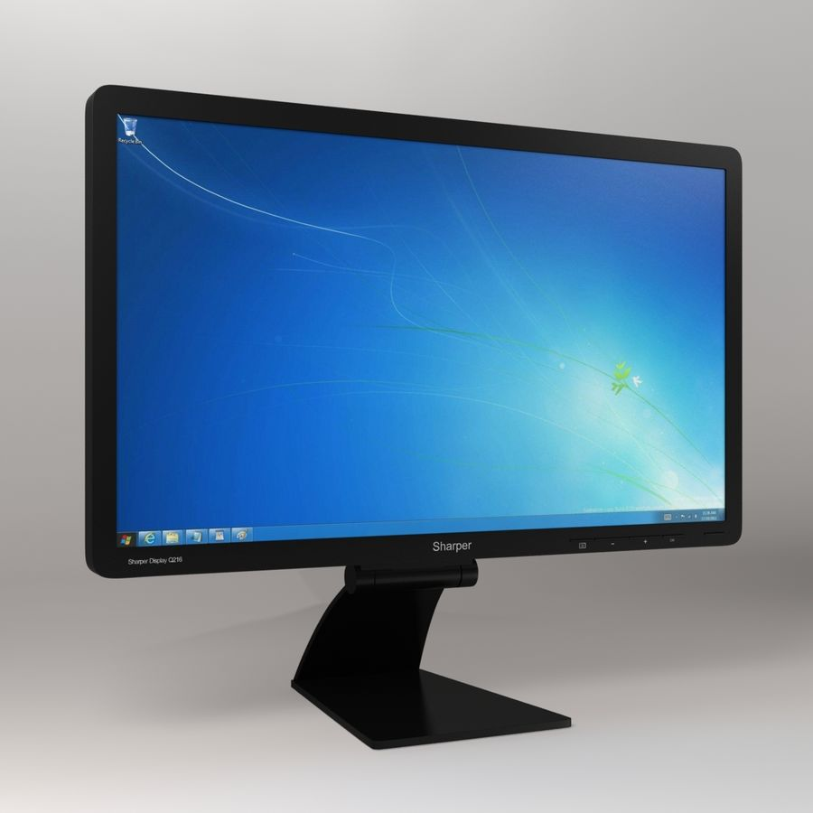 Generic PC Monitor royalty-free 3d model - Preview no. 10