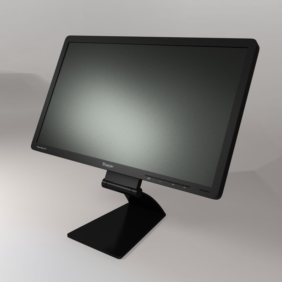 Generic PC Monitor royalty-free 3d model - Preview no. 6
