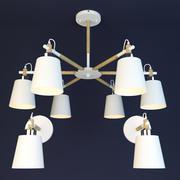 Скандинавская лампа 3d model