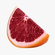 Blood Orange Slice 3d model