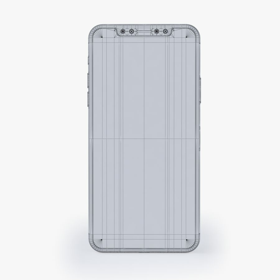 iPhone X royalty-free modelo 3d - Preview no. 12