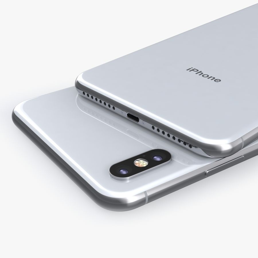 iPhone X royalty-free 3d model - Preview no. 10