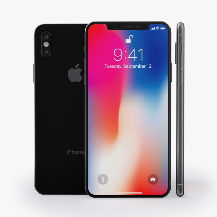 iPhone X royalty-free 3d model - Preview no. 5