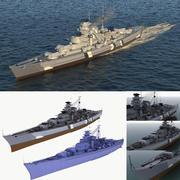 Encouraçado Bismarck 3d model