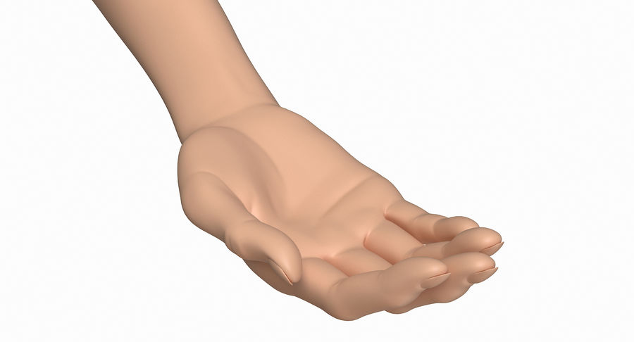 Female Arm A (Pose B) royalty-free 3d model - Preview no. 16