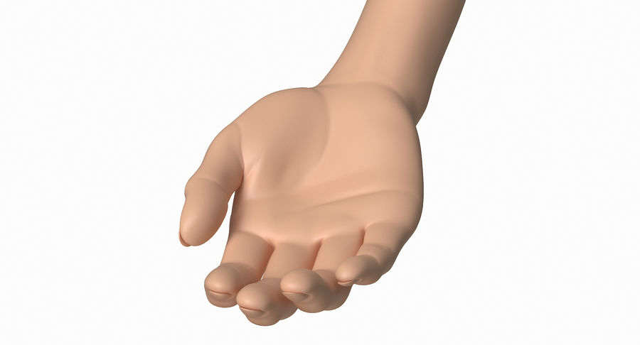 Female Arm A (Pose B) royalty-free 3d model - Preview no. 12