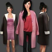 Manteau sur les épaules 3d model