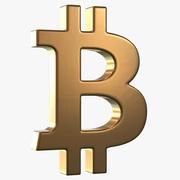 Logotipo de Bitcoin modelo 3d
