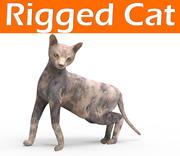 horror cat rigged 3d model
