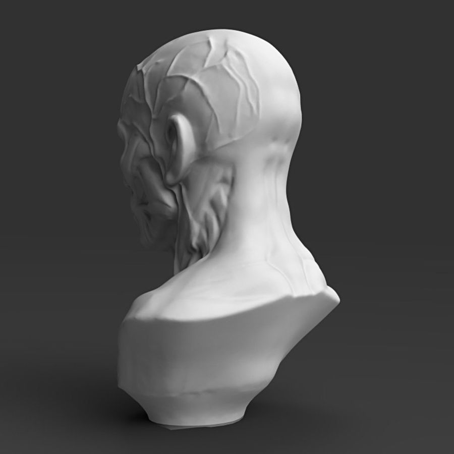Cabeça masculina royalty-free 3d model - Preview no. 4