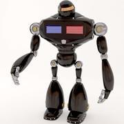 robot della polizia 3d model