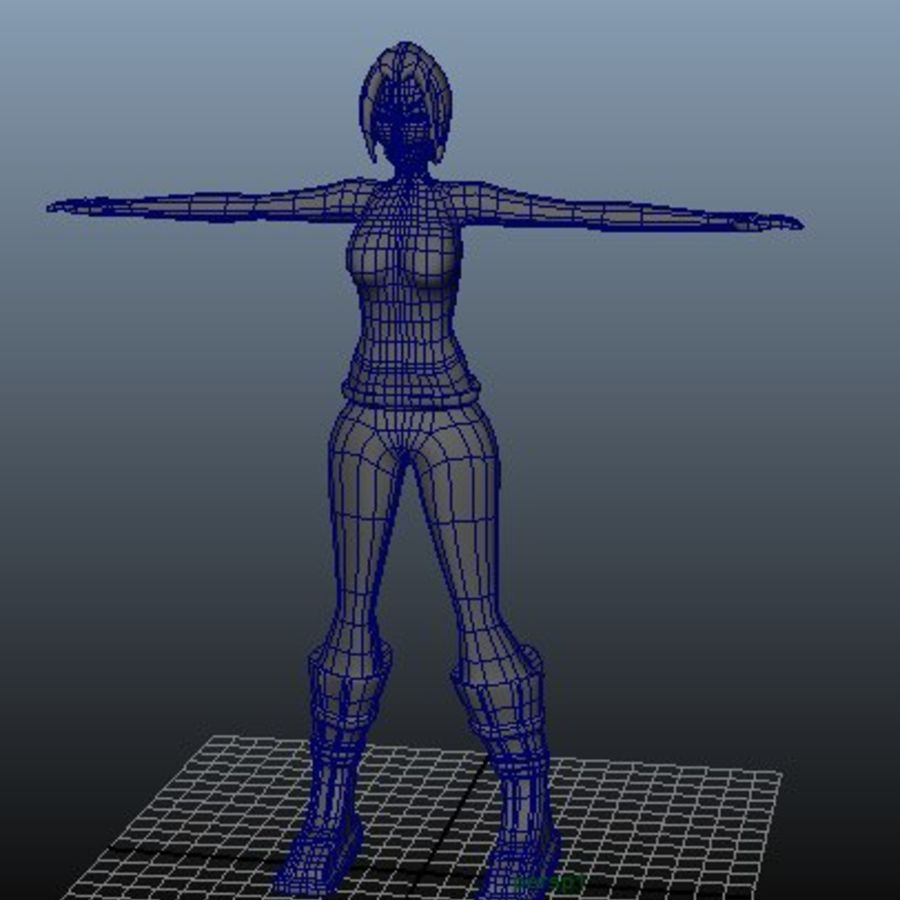 Macera kadını royalty-free 3d model - Preview no. 5