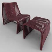 扶手椅PUFF TIDELLI PAO DE ACUCAR 3d model