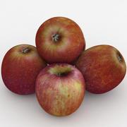 Fruta Manzana Roja Deliciosa modelo 3d