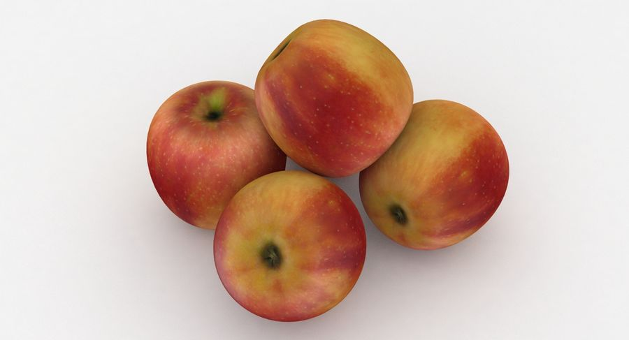 Campeón de la manzana de frutas royalty-free modelo 3d - Preview no. 4