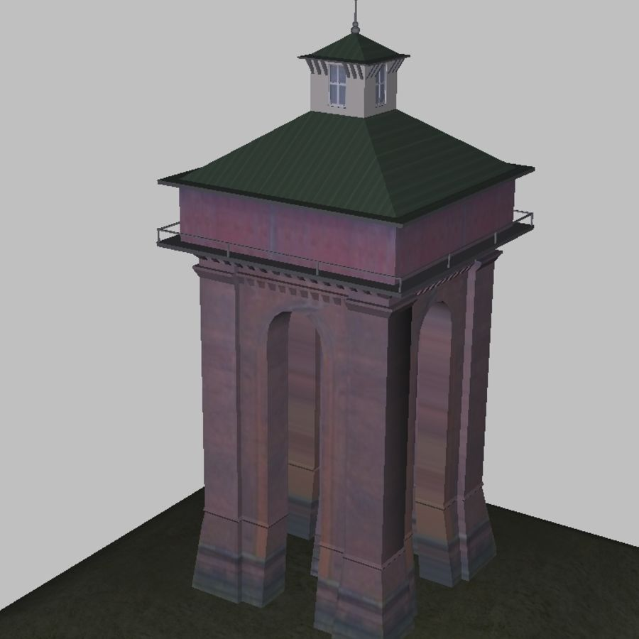 Toren royalty-free 3d model - Preview no. 2