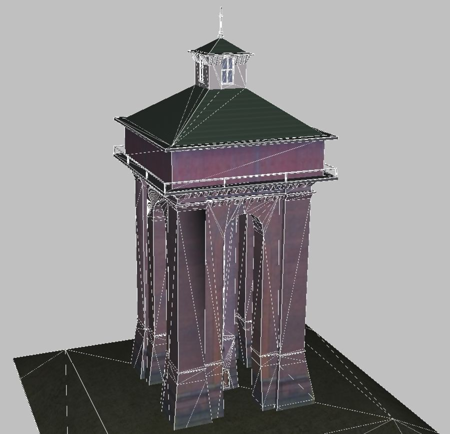 La tour royalty-free 3d model - Preview no. 4