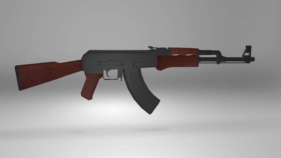 Kalshnikov AK-47 royalty-free 3d model - Preview no. 4