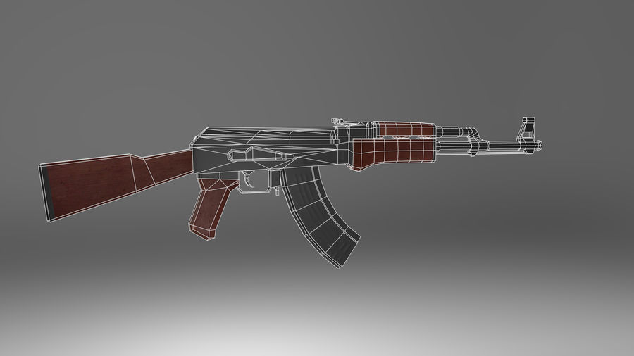 Kalshnikov AK-47 royalty-free 3d model - Preview no. 8