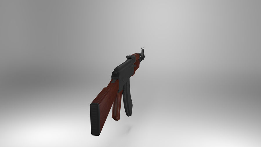Kalshnikov AK-47 royalty-free 3d model - Preview no. 2