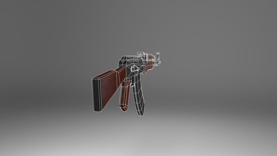 Kalshnikov AK-47 royalty-free 3d model - Preview no. 10