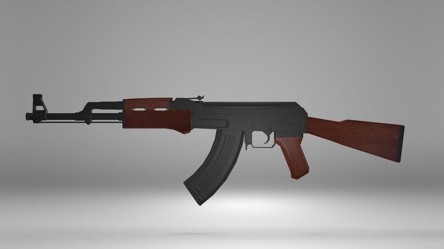Kalshnikov AK-47 royalty-free 3d model - Preview no. 3