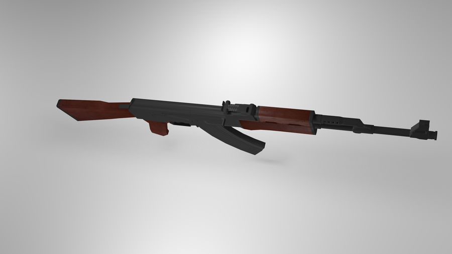 Kalshnikov AK-47 royalty-free 3d model - Preview no. 5