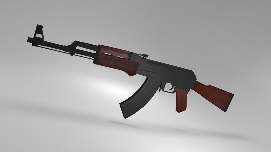 Kalshnikov AK-47 royalty-free 3d model - Preview no. 1