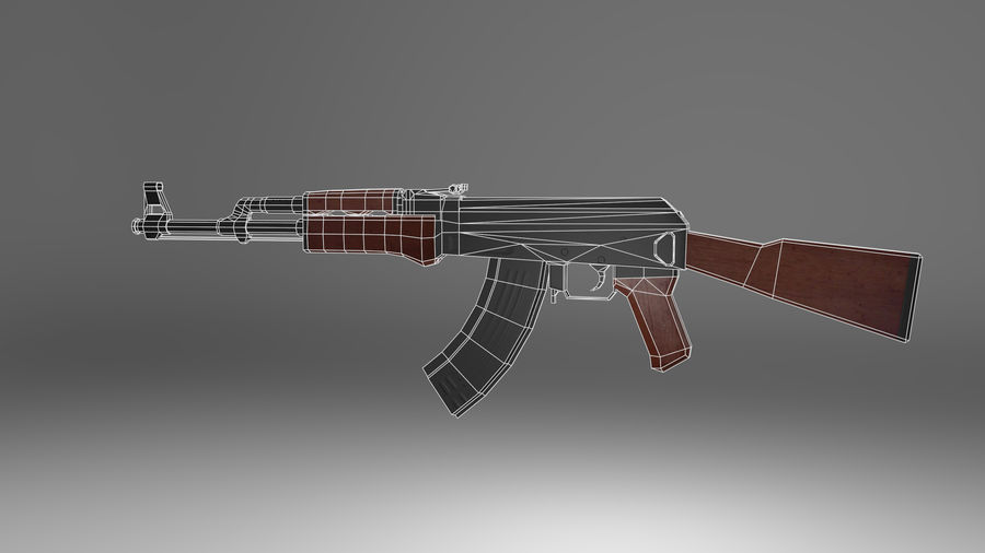 Kalshnikov AK-47 royalty-free 3d model - Preview no. 7