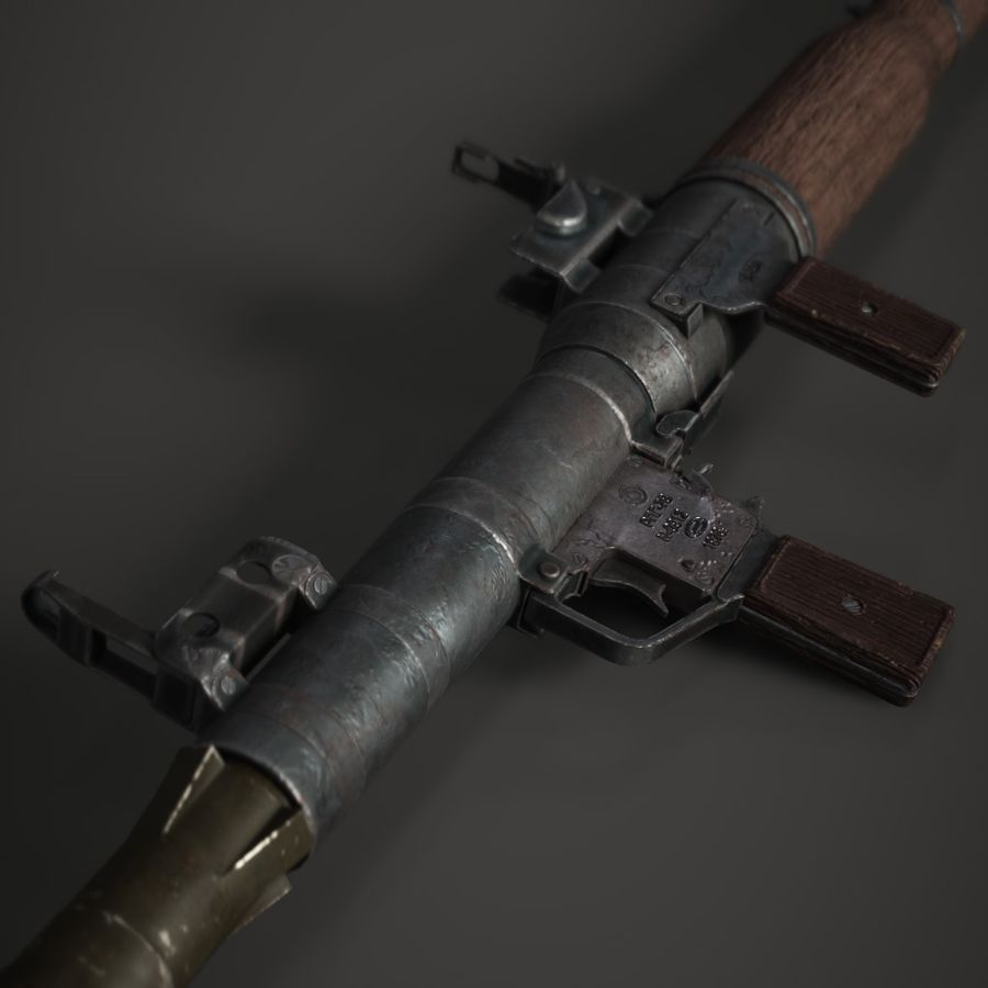 RPG 7 royalty-free 3d model - Preview no. 3