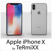 IPHONE X Baixo poli 3d model