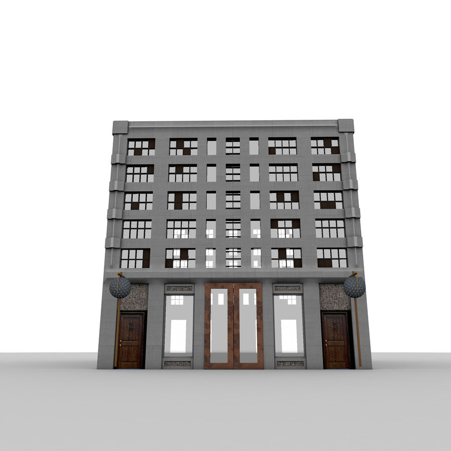 Concrete Building Exterior royalty-free 3d model - Preview no. 1