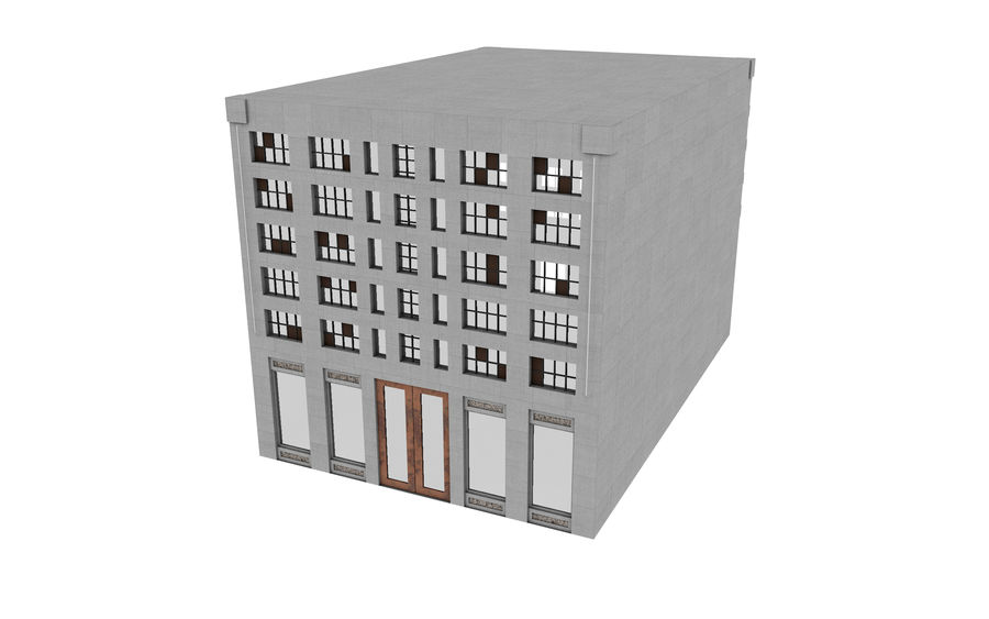 Concrete Building Exterior royalty-free 3d model - Preview no. 3