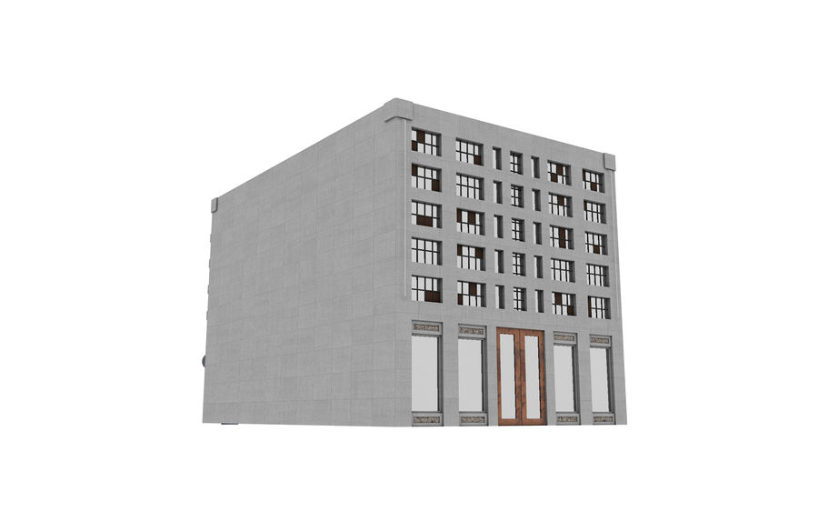 Concrete Building Exterior royalty-free 3d model - Preview no. 4