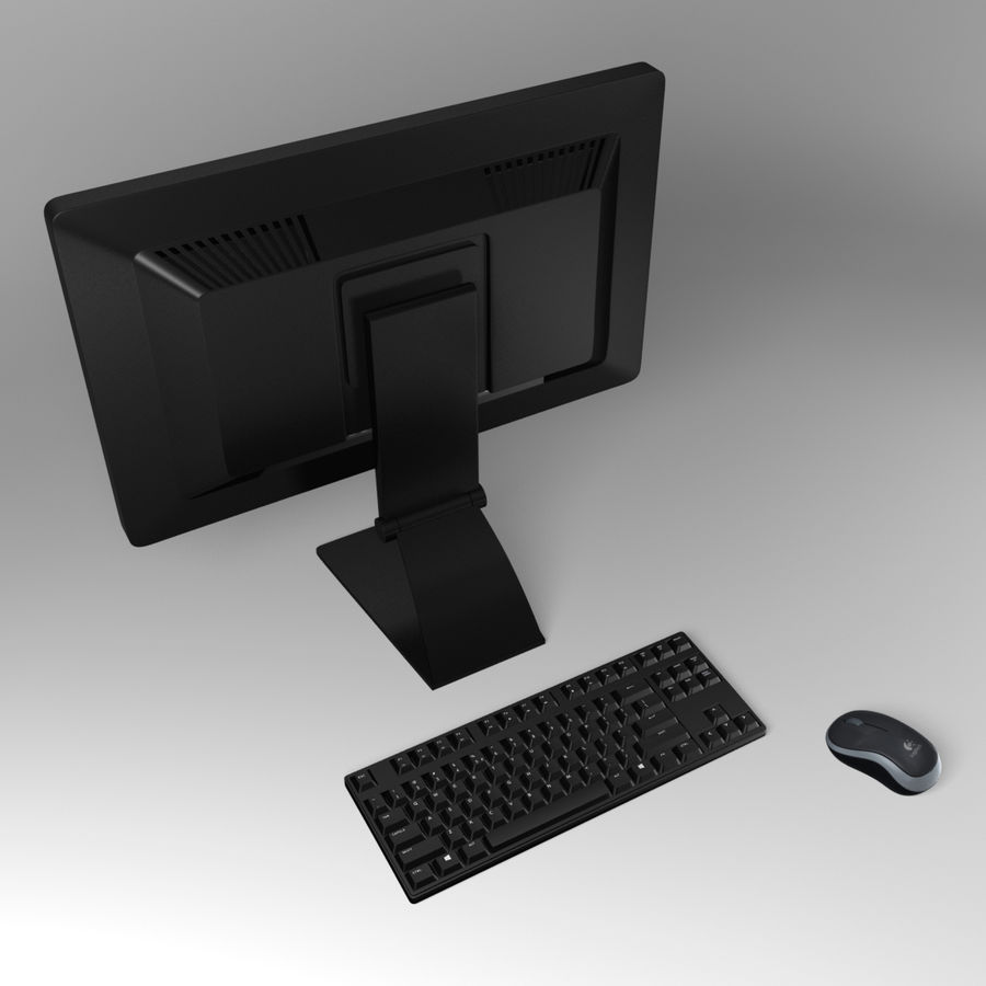 PC-Computer-Set royalty-free 3d model - Preview no. 5