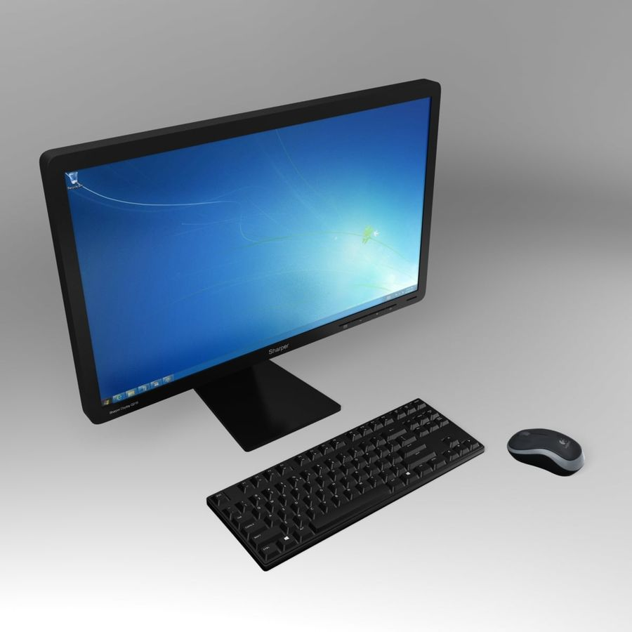 PC Computer Set royalty-free 3d model - Preview no. 2