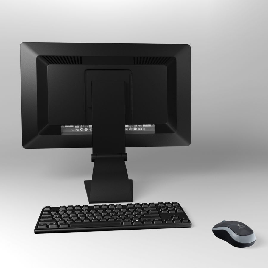 PC-Computer-Set royalty-free 3d model - Preview no. 31