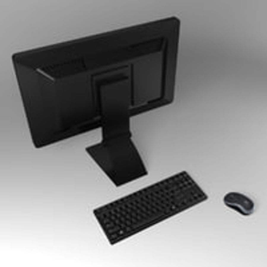 PC Computer Set royalty-free 3d model - Preview no. 5