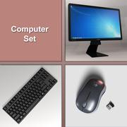 PC Computer Set 3d model