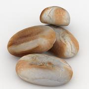 Type de doigt de brioche de pain 3d model