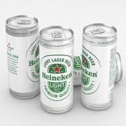 맥주 캔 하이네켄 라이트 330ml 3d model