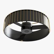 Ventilador de techo Vault Black Gold modelo 3d