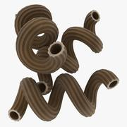 Dry Whole Wheat Spiral Pasta 2 3d model