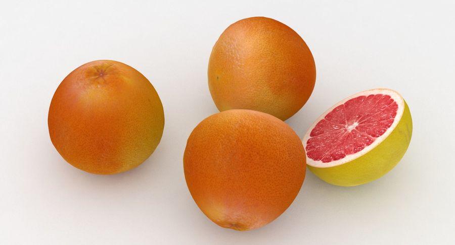 Pompelmo Di Frutta Rosso Rubino royalty-free 3d model - Preview no. 4