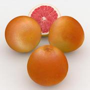 Pompelmo Di Frutta Rosso Rubino 3d model